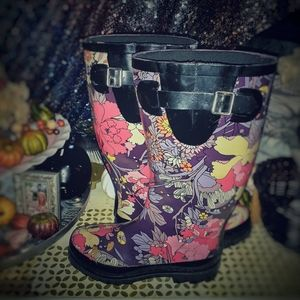 Sakroot Peace Floral Rainboots